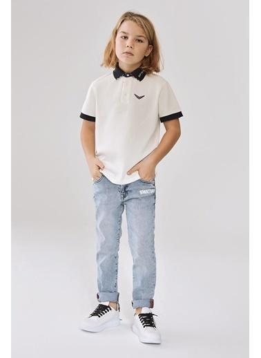 Swatsky Erkek Çocuk Ekru T-Shirt Ekru